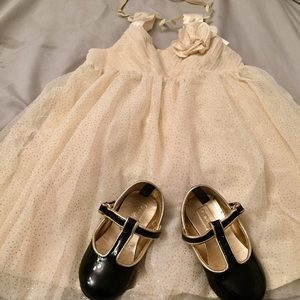NWT Toddler Sz 2-3T H&M Holiday Glitter Gold Dress